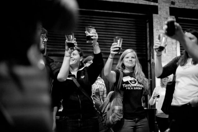 Cheers! Barley's Angels MKE toast at one of their monthly events.