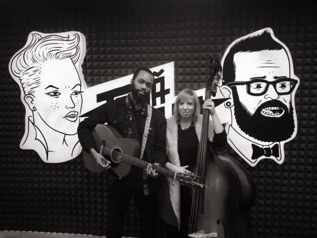At TANA NANA radio station in Romania.