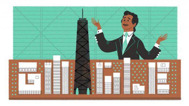 Google doodle Fazlur Rahman Khan