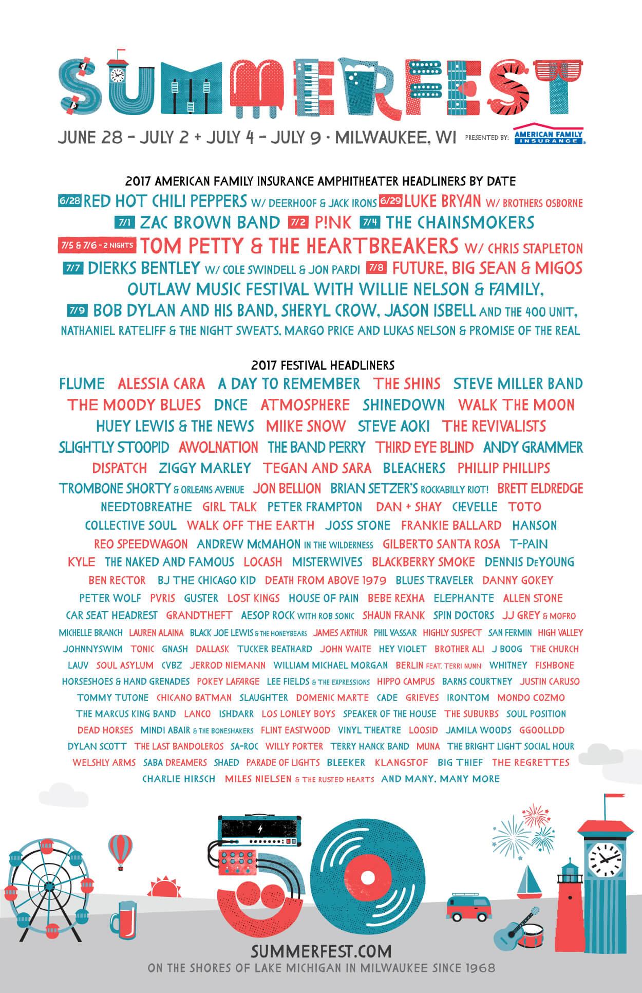Summerfest Ground Stage headliners