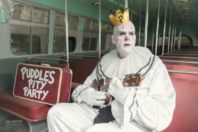 Meet Mike Geier, AKA 'Puddles', the sad clown that covers classic tunes.