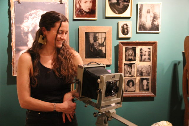 Margaret Muza, tintype photographer and new Artist-in-Residence at the Pfister Hotel.