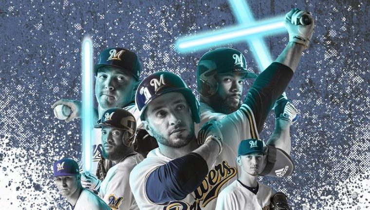 Star wars night with Milwaukee Brewers