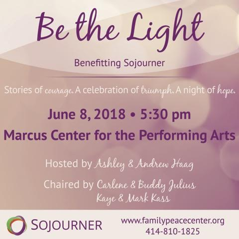 Sojourner Family Peace Center - Be the Light Fundraiser | 88Nine