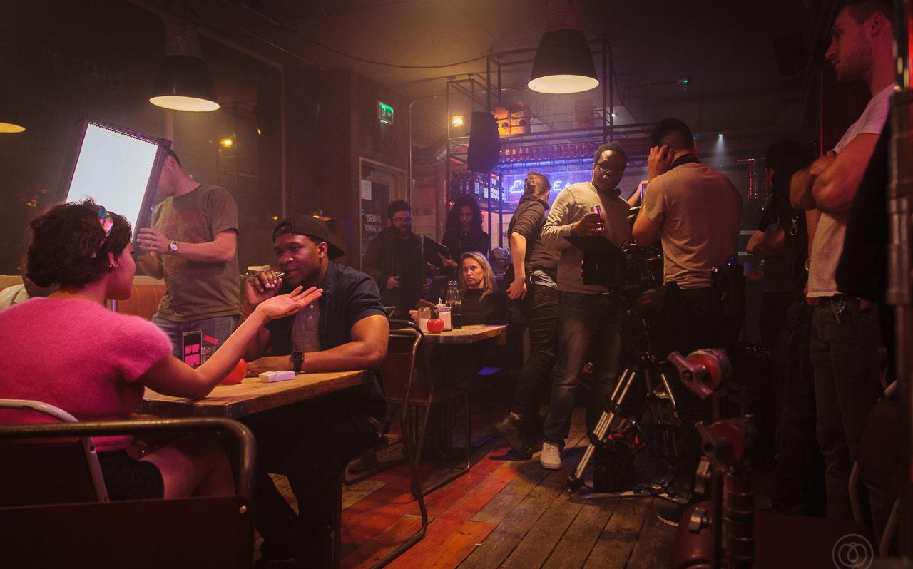 Hip Hop Cafe behind the scenes