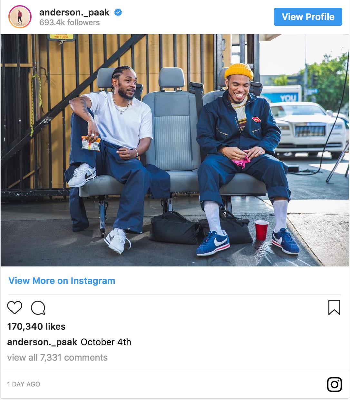 Anderson Paak and Kendrick Lamar new song