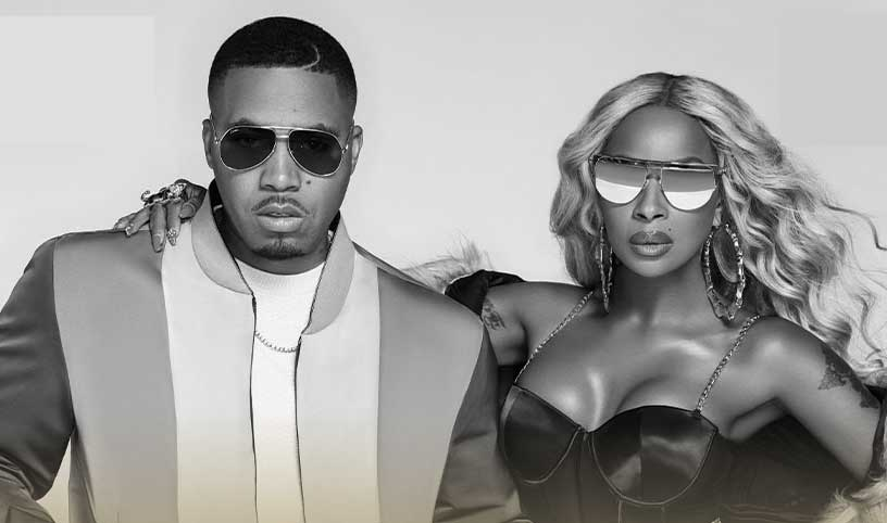 Mary J Blige and Nas at Fiserv Forum on July 30
