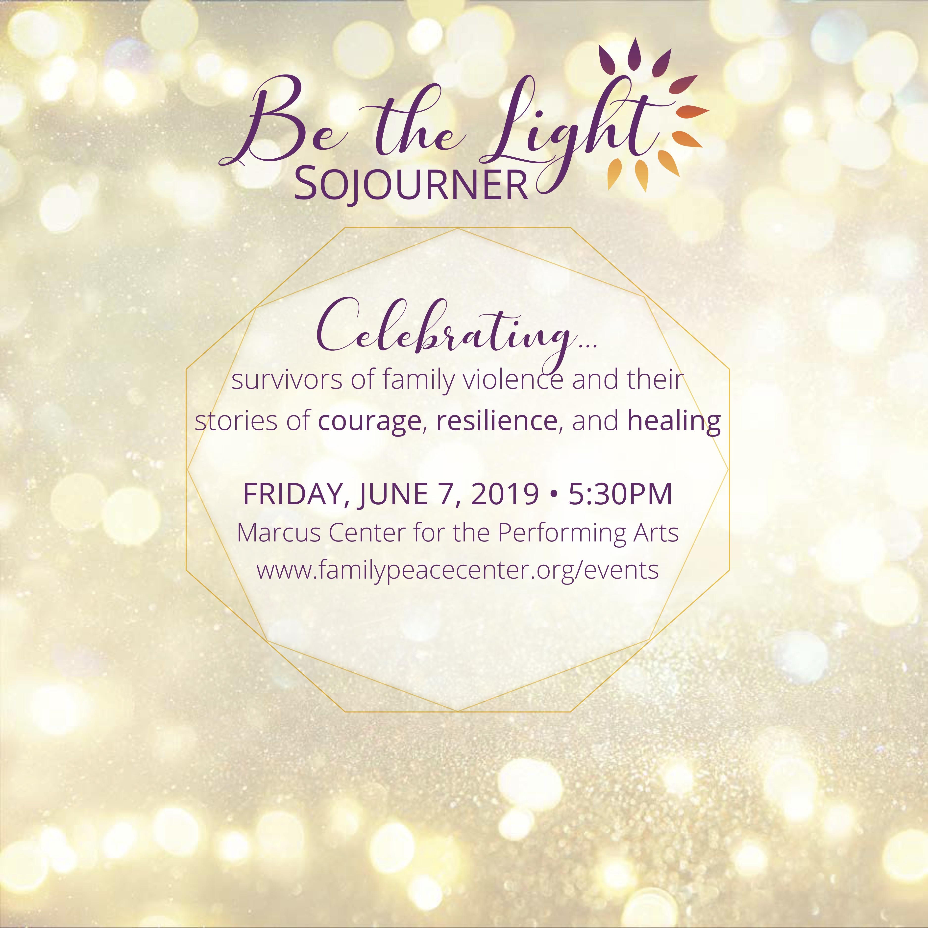 Sojourner Family Peace Center - Be the Light Fundraiser | 88Nine