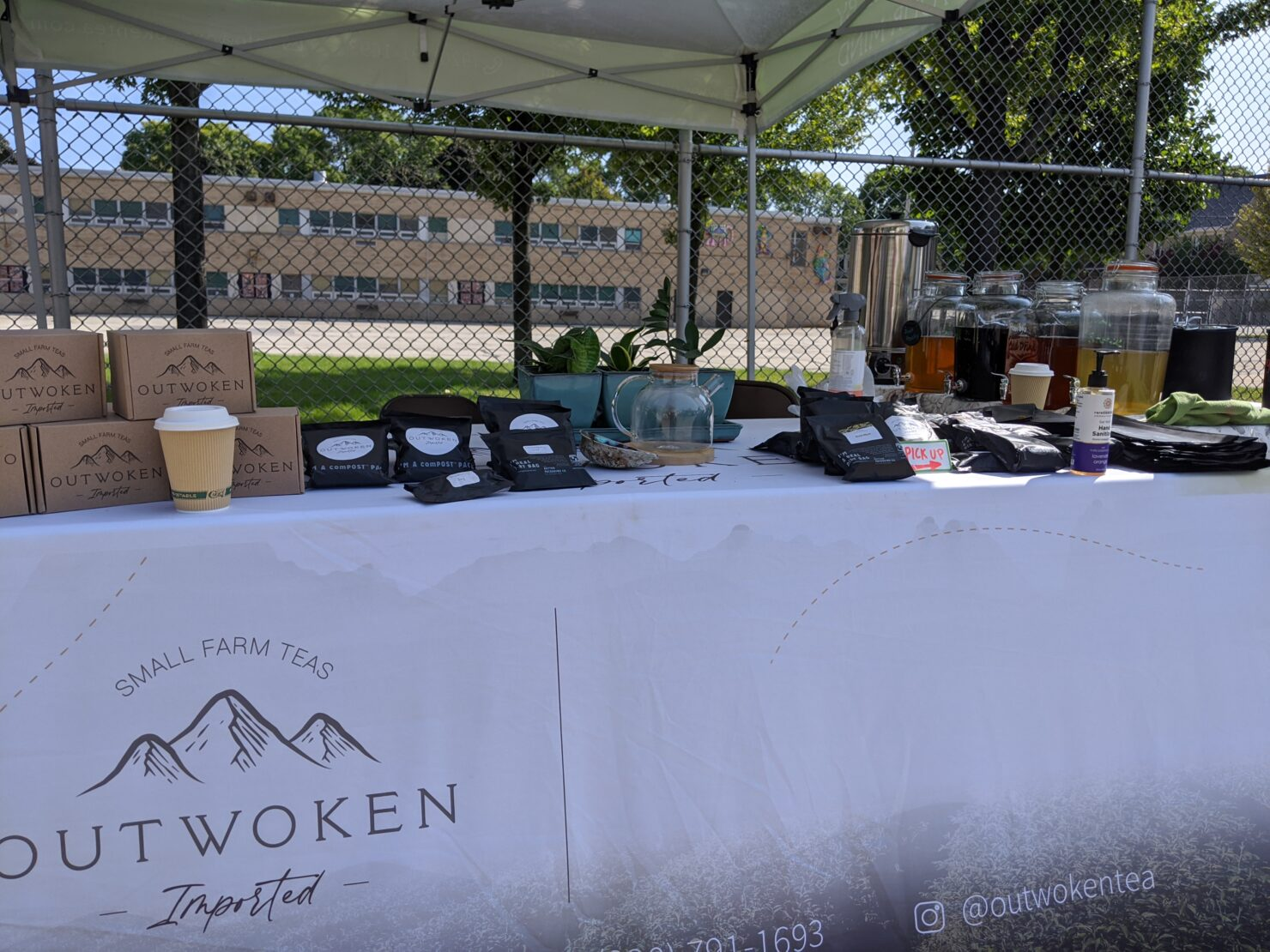 Outwoken Tea Table at Riverwest Farmer's Market