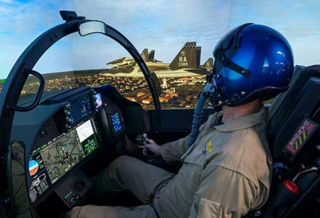 "T-7A trainer jet's ""real-as-it-gets"" flight simulator enters production"