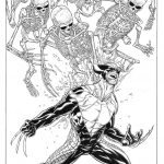 Death of Wolverine 1 Quesada Sketch Variant