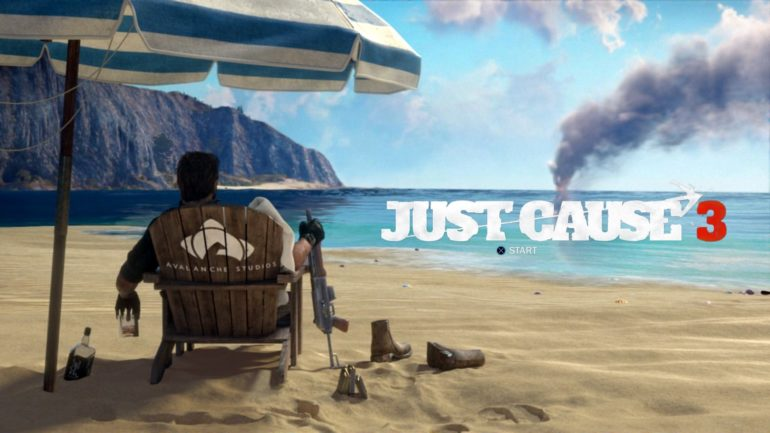Just Cause 3 - start screen