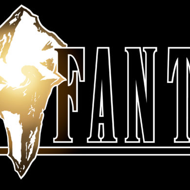 Final Fantasy IX - black logo