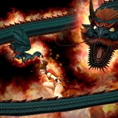 King of Fighters XIV - Mui Mui dragon