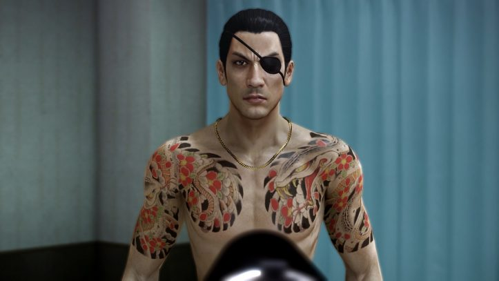 Yakuza 0 - Majima at gunpoint