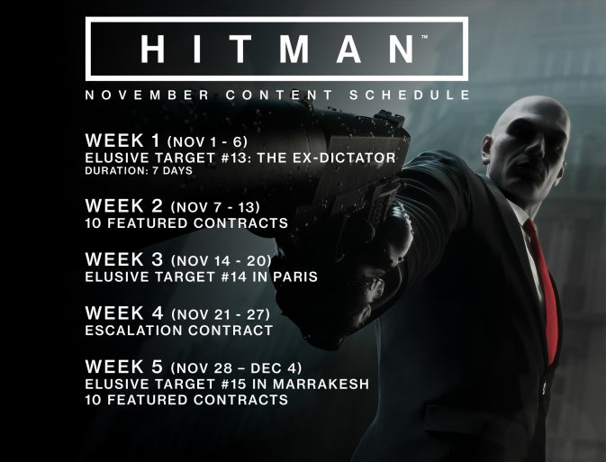 HITMAN - November schedule