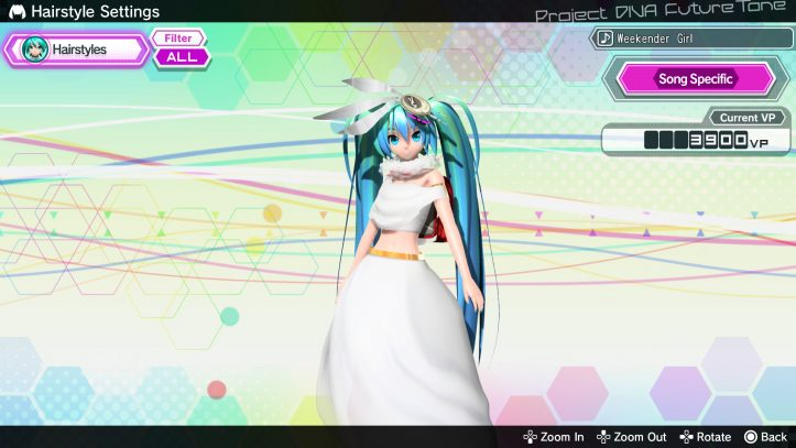 Hatsune Miku: Project DIVA Future Tone - white dress