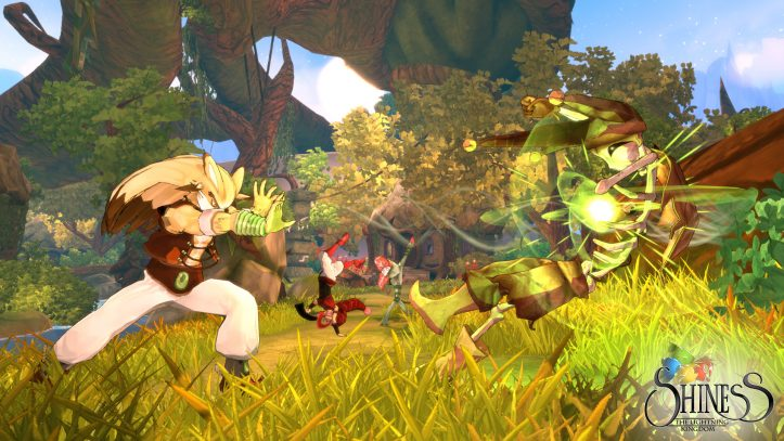Shiness: The Lightning Kingdom - battle shot