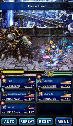 Final Fantasy Brave Exvius - gameplay screen