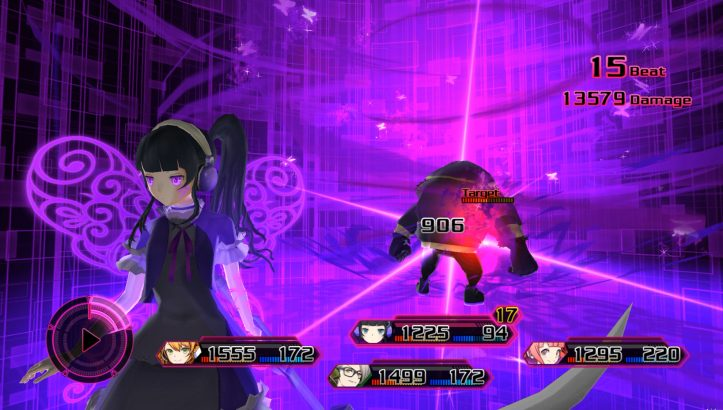 Akiba's Beat - Battle screen