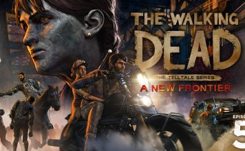 The Walking Dead - A New Frontier - season finale logo