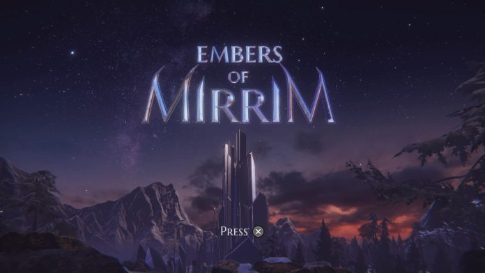 Embers of Mirrim - start screen