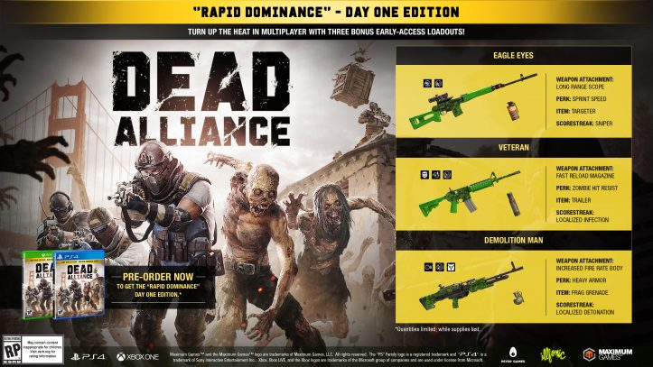 Dead Alliance - pre-order offer