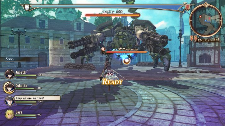 Valkyria Revolution - boss fight