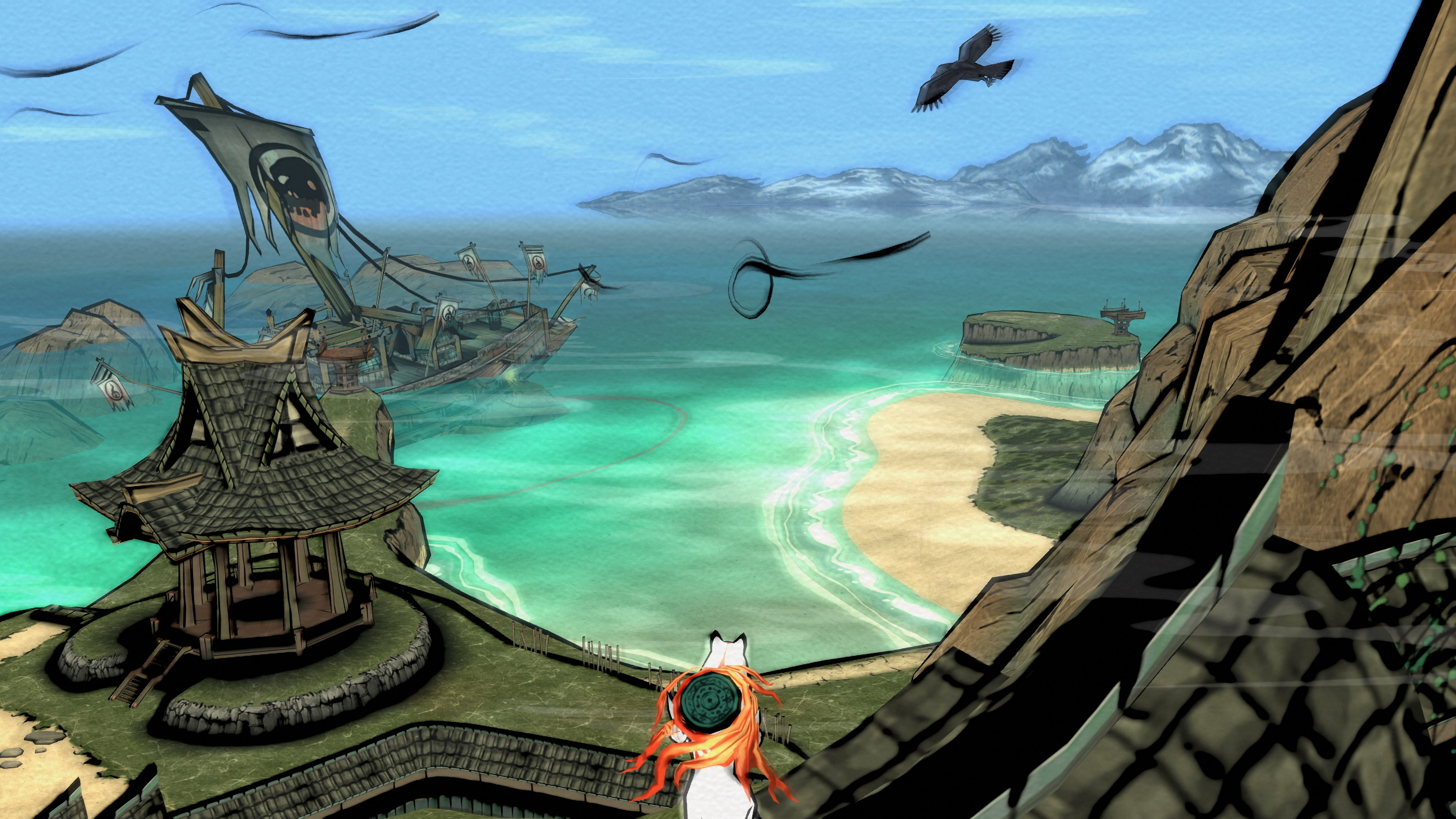 Okami HD - sunken ship