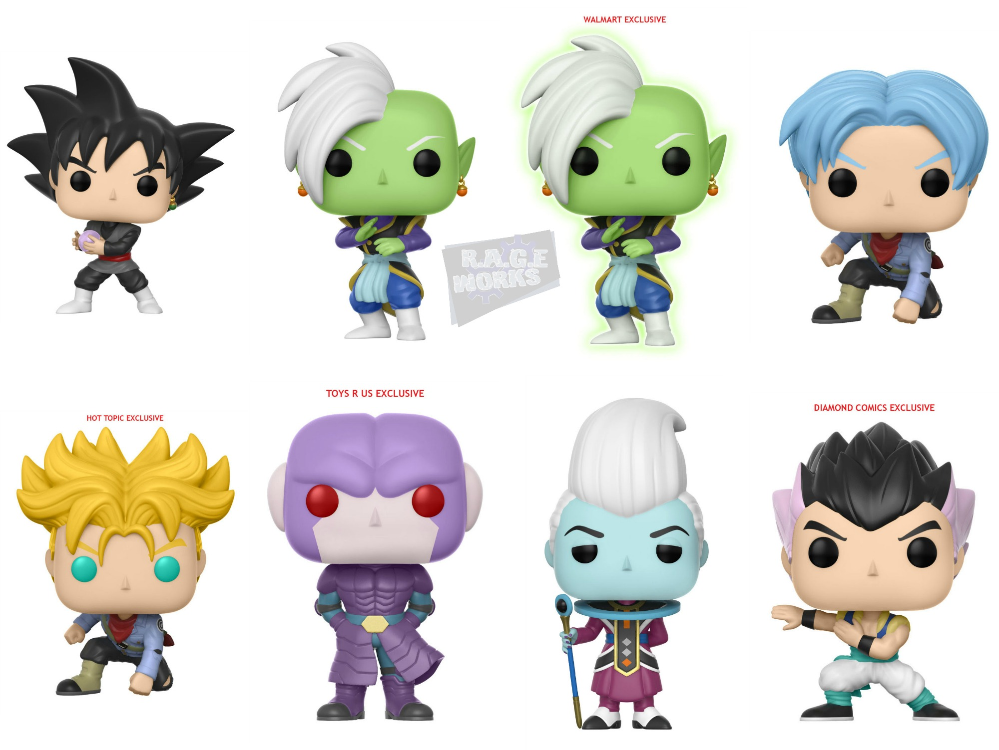 Funko Announces Dragon Ball Super Pop Line Rage Works