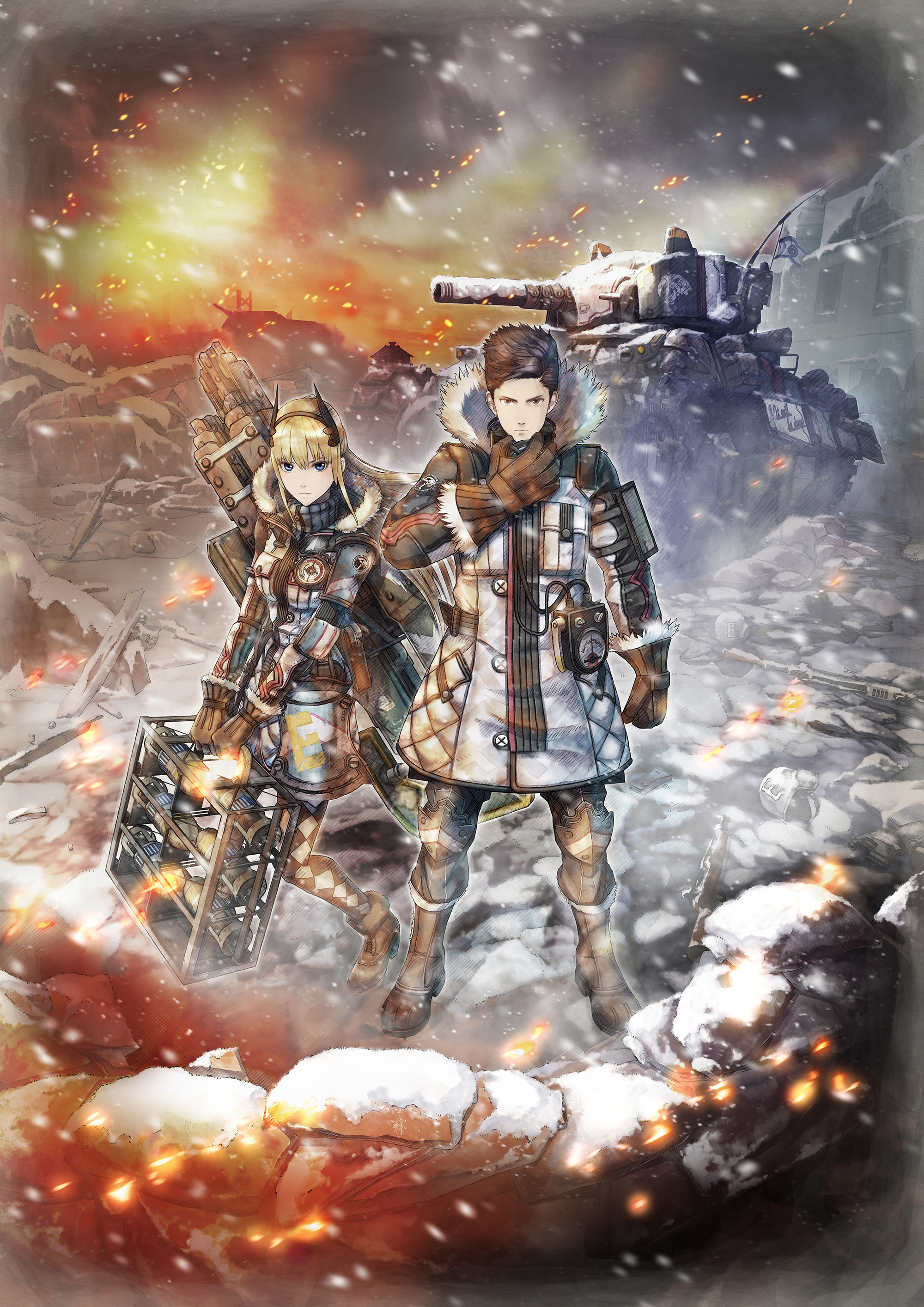 Valkyria Chronicles 4 - key art