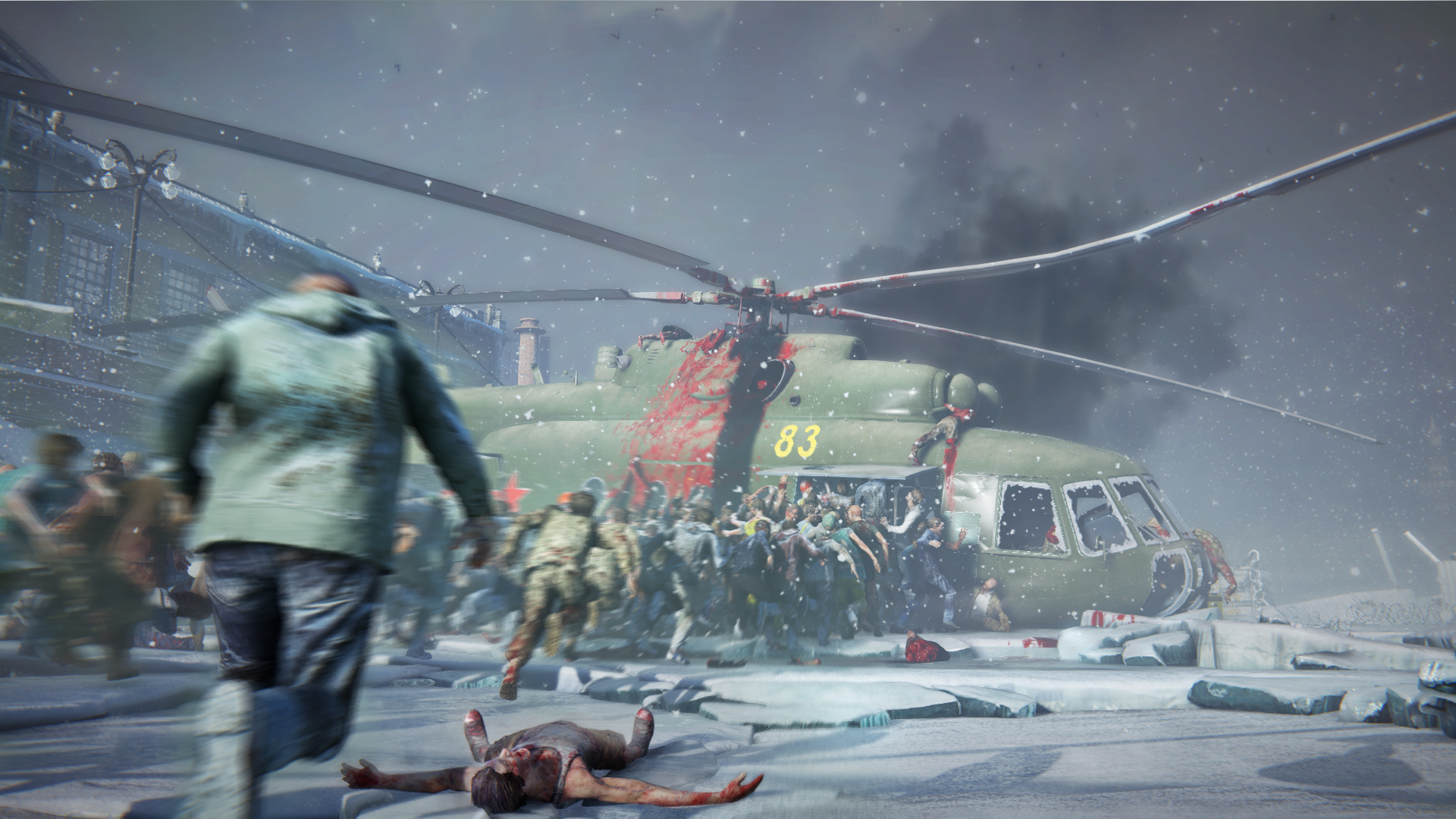 World War Z - downed helicopter