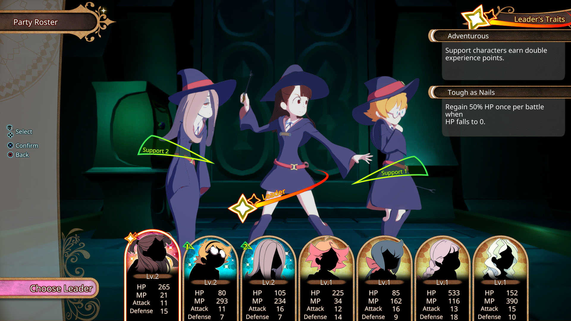 Little Witch Academia: Chamber of Time - select
