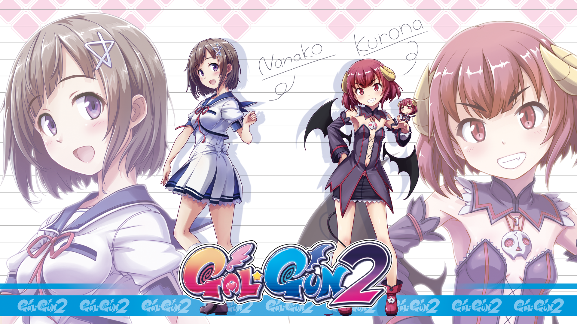 Gal*Gun 2 - Nanako and Kurona