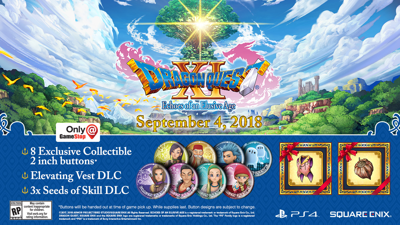 Dragon Quest XI - GameStop incentive