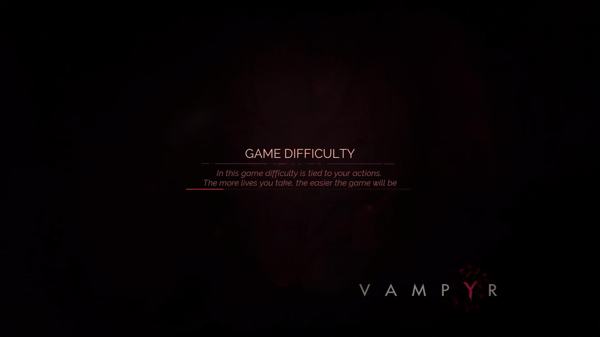 Vampyr - load screen