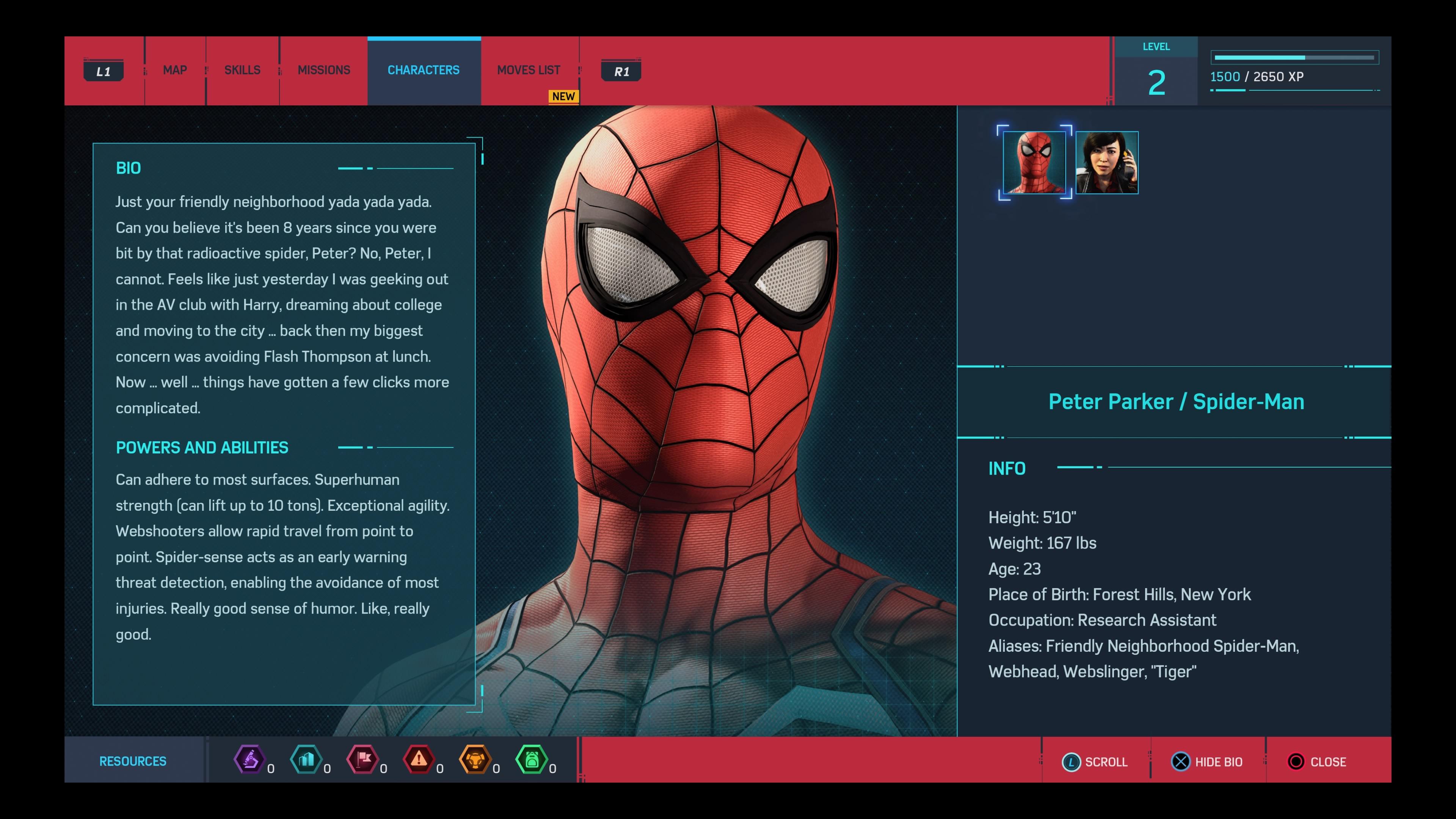 Marvel's Spider-Man - Spider-bio