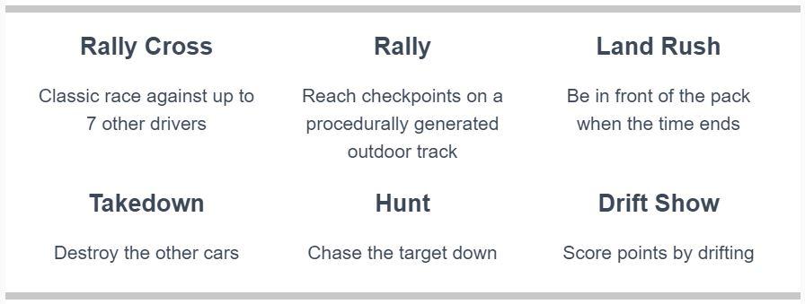Super Pixel Racers - race modes