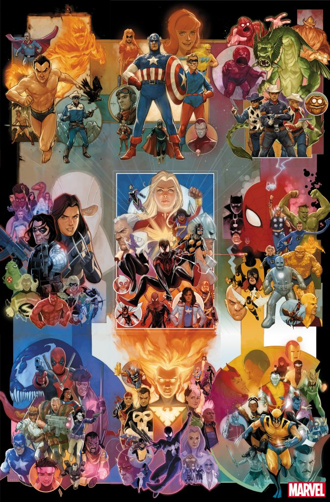 Phil Noto 80th anniversary variant covers.
