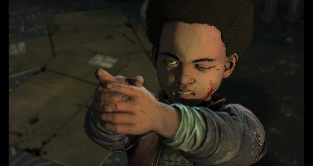 The Walking Dead: The Final Season - AJ aims