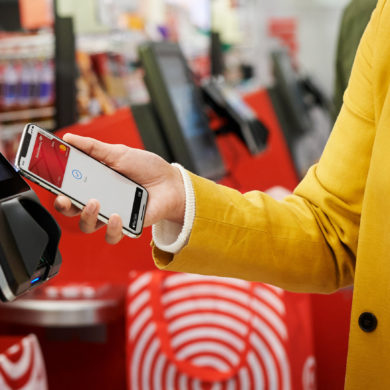 Apple Pay coming to partners Customer checking out with Apple Pay at Target 01222019