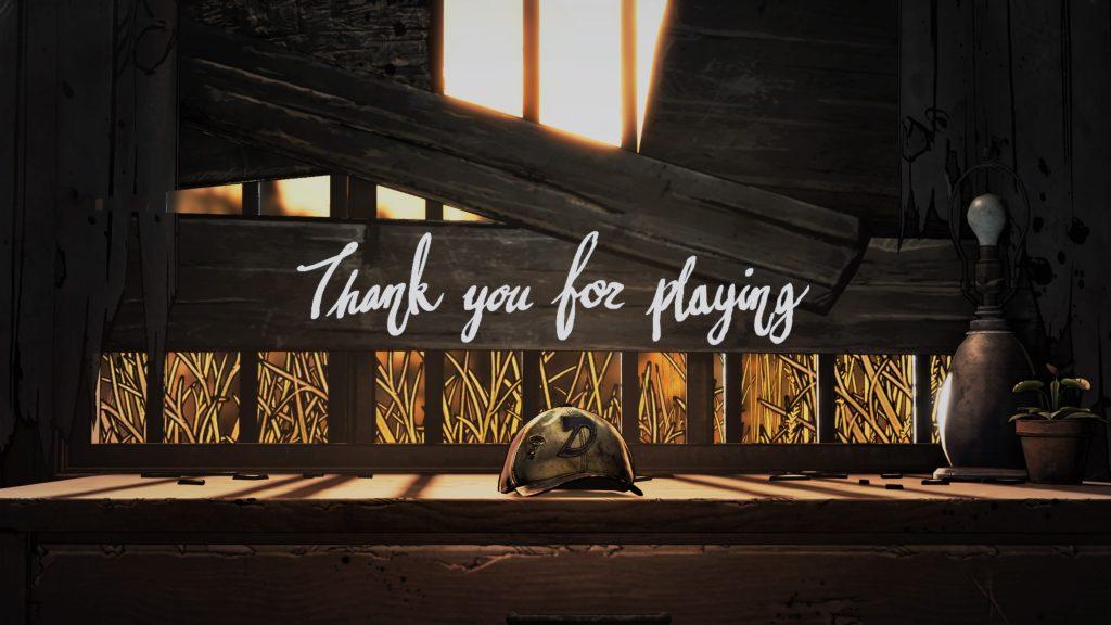 The Walking Dead: The Final Season - thank you