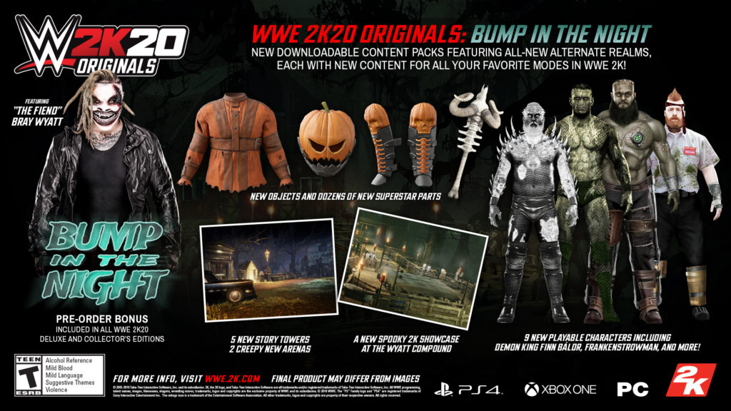 WWE2K20 Originals Bump in the Night