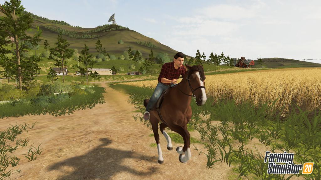 Farming Simulator 20 - horseback riding