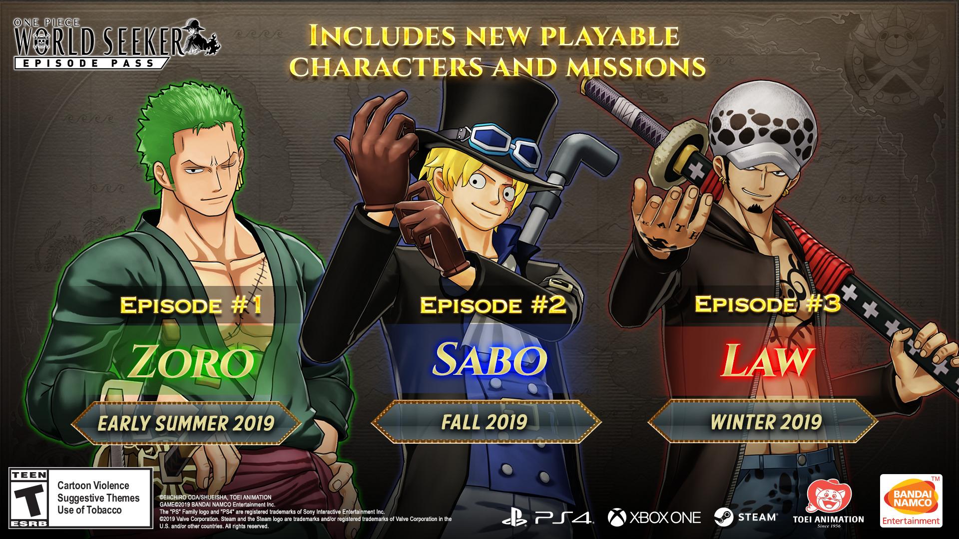One Piece World Seeker - DLC schedule