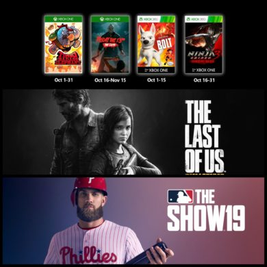 PlayStation Plus Games with Gold October 2019