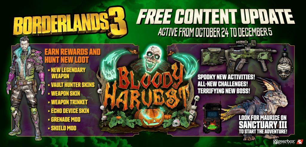 Borderlands 3 - Bloody Harvest info
