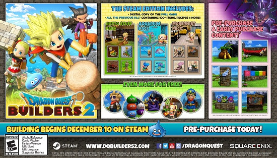 Dragon Quest Builders 2 - PC pre-order incentives