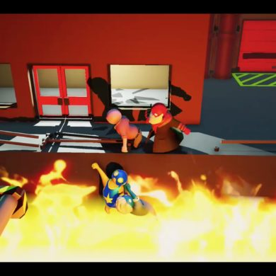 Gang Beasts - fire pit