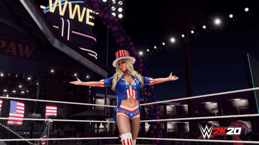 WWE2K20 Originals Southpaw Regional Wrestling Charlotte Flair